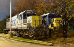 CSX SD20-2 2402 and CSX B30-7 5552